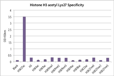 Specificity of Histone H3 acetyl Lys27 ELISA